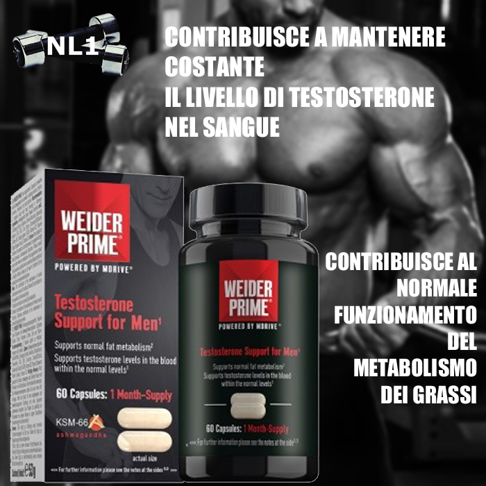 TESTOSTERONE SUPPORT FOR MEN [60 CPS] - WEIDER PRIME